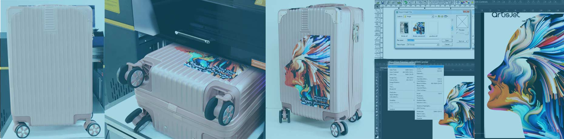 Custom print travel luggage